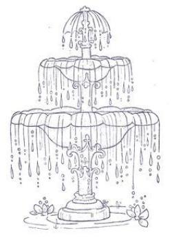 Fountain clipart sketch