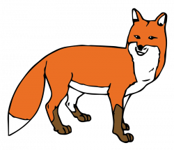 Jackal clipart running fox