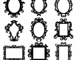 Damask clipart mirror