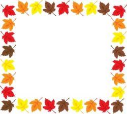 Frame clipart autumn