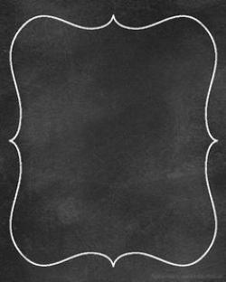 Frame clipart chalkboard