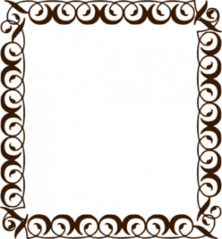 Frame clipart chocolate