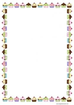 Frame clipart cupcake