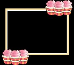 Cupcake clipart boarder