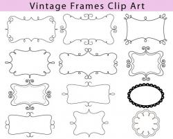 Classical clipart vintage tag