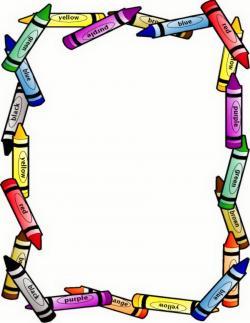 Crayon clipart page border