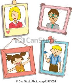 Frame clipart family picture
