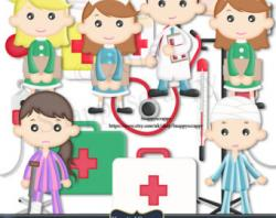 Hospital clipart doctor nurse