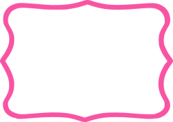 Frame clipart hot pink