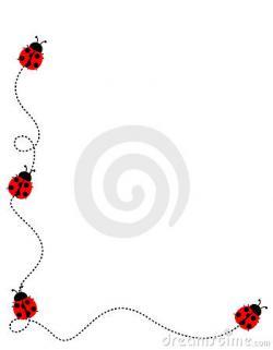 Frame clipart ladybug