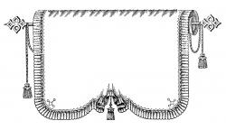 Victorian clipart curtain