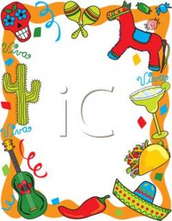 Latin clipart fiesta theme