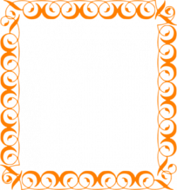 Frame clipart orange