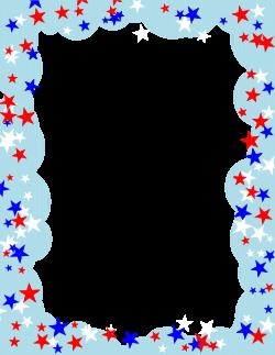 Frame clipart patriotic