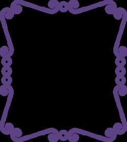 Frame clipart purple
