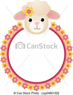 Frame clipart sheep