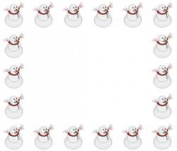 Frame clipart snowman