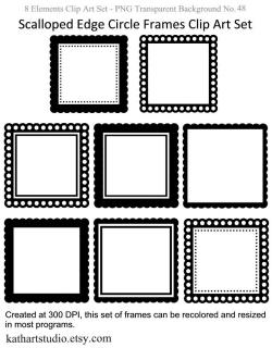 Squares clipart scalloped edge