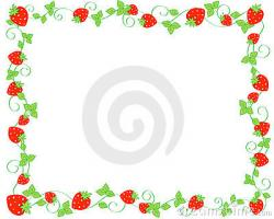 Frame clipart strawberry