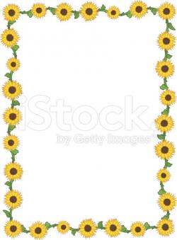 Frame clipart sunflower