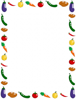 Frame clipart vegetable