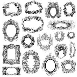 Gothc clipart oval filigree frame
