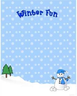 Frame clipart winter