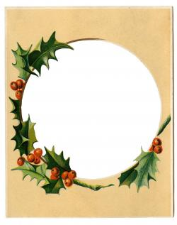 Holley clipart christmas scene