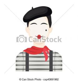 France clipart french mime