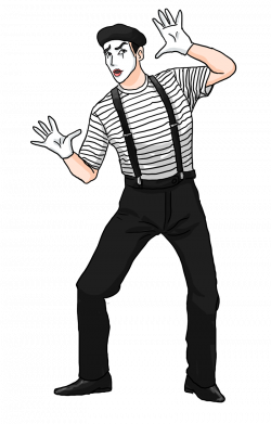 French clipart mime artist