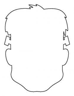 Frankenstein clipart outline