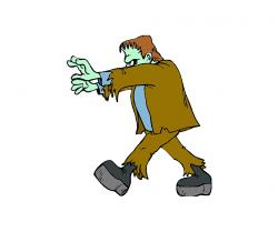 Frankenstein clipart walking
