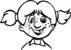 Freckles clipart black and white