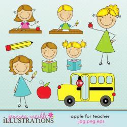Blonde clipart cute teacher