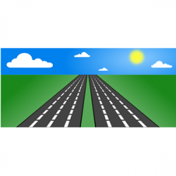 Highway clipart open road
