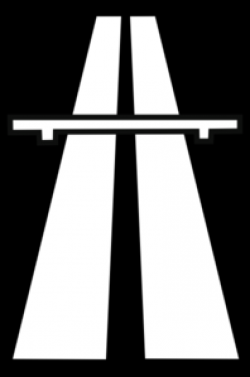 Highway clipart black and white