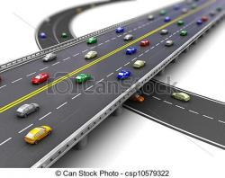 Highway clipart car road