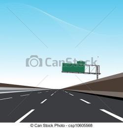 Asphalt clipart freeway