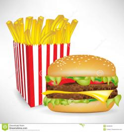 Chips clipart hamburger