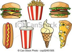 Burger clipart pizza