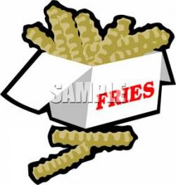 French Fries clipart crinkle cut