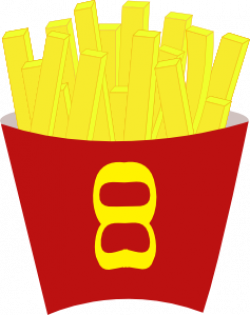 French Fries clipart fried potato