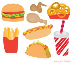 Hamburger clipart fast food