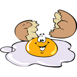 Fried Egg clipart cracked egg