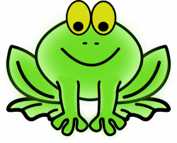 Symmetry clipart green frog