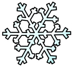 Line clipart snowflake