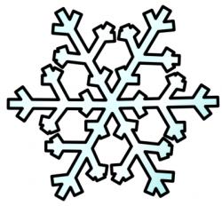 Line clipart snowflake