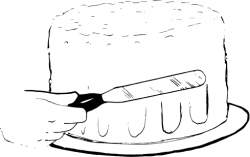 Icing clipart black and white