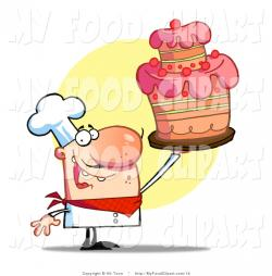 Icing clipart pink chef hat