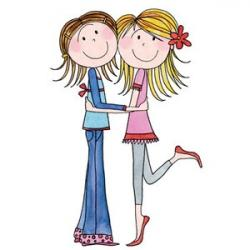 Braid clipart sister love